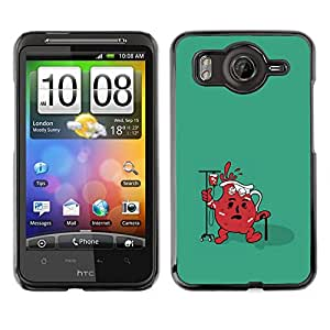 Caucho caso de Shell duro de la cubierta de accesorios de protección BY RAYDREAMMM - HTC G10 - Divertido Ayuda Jug fresca
