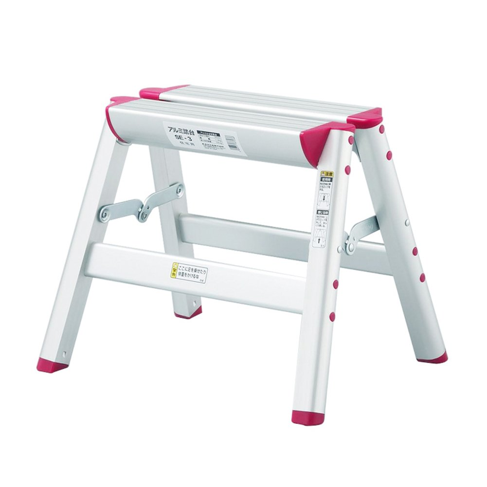 LXLA- Aluminum Alloy 1,2,3-Step Stool Household Folding Ladder Stool Adult Thicken Scissors Ladder For Home, Workshop, Garage (Size : 1-Step)