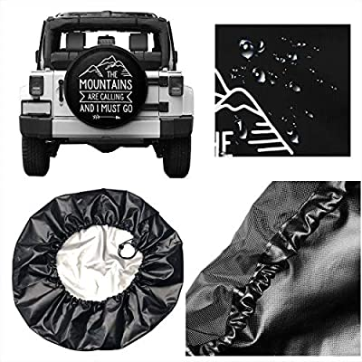 ULNL The Mountains are Calling and I Must Go Spare Wheel Tire Cover Funny Waterproof Tire Protectors Novelty : Clothing