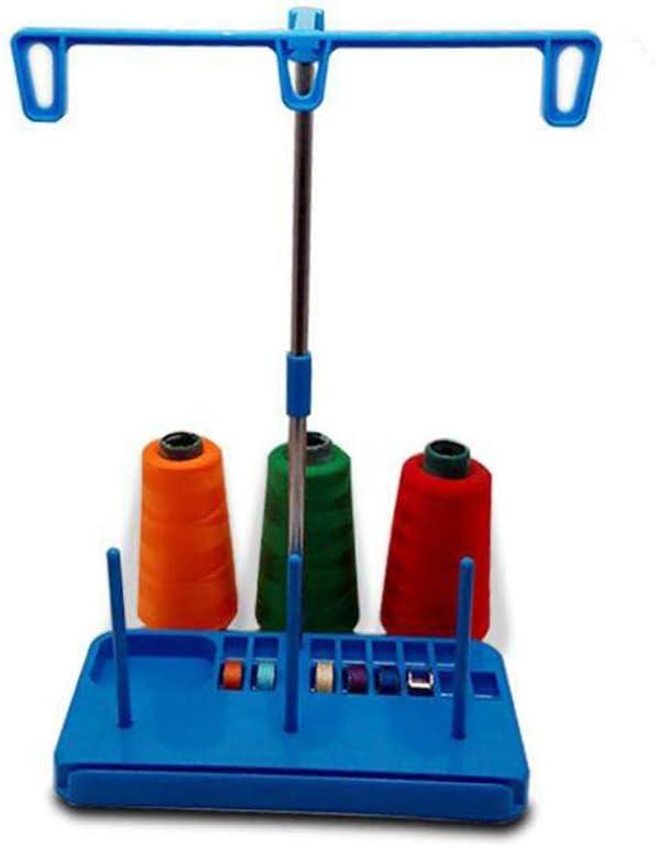 1 Juego Embroidex Pedestal De Hilos 3 Carretes Porta Hilos De Bordar Carretes Bobina De Costura Titular De La Máquina En Rack Para El Hogar Acolchar Accesorios De Costura De La Máquina (Azul)