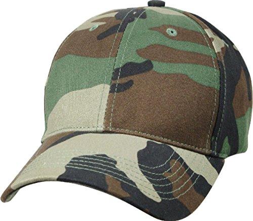 (Kids Woodland Camouflage Military Low Profile Adjustable Baseball Cap)