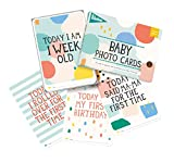 Milestones Baby Photo Cards Limited Edition Cotton Candy - Set of 30 Photo Cards to Capture Your Baby's First Year in Weeks, Months, and Memorable Moments
