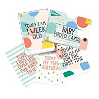 Milestone - Baby Photo Cards Limited Edition Cotton Candy - Set of 30 Photo C...