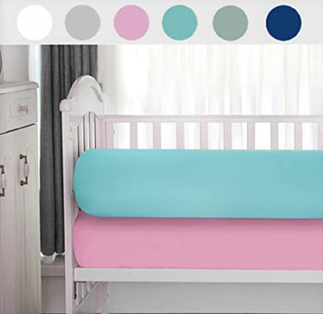 Fits Standard 2 Pack Premium Crib Sheets Pink and Aqua Baby Mattress Fitted Sheet Size 28x52in