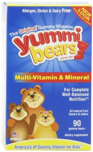 Yummi Bears Multi-vitaminas y minerales, 90-Count Gummy Bears FlavorName: Fruto