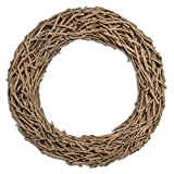 """Fifth + Nest Natural Driftwood Wreath 20"""" - Made of Real Wood - Rustic Coastal Home Decor"""