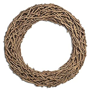 """Fifth + Nest Natural Driftwood Wreath 20"""" - Made of Real Wood - Rustic Coastal Home Decor 112"""