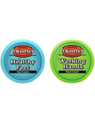 O'Keeffe's K0350015 Working Hands 3.4oz & Healthy Feet 3.2oz Combination Pack of Jars