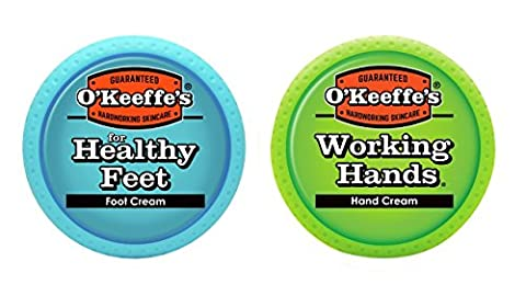 O'Keeffe's Working Hands 3.4oz & Healthy Feet 3.2oz Combination Pack of Jars - S&w Leather Saddle