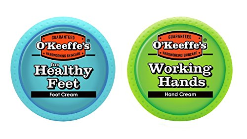 O'Keeffe's Working Hands 3.4oz & Healthy Feet 3.2oz Combination Pack of Jars