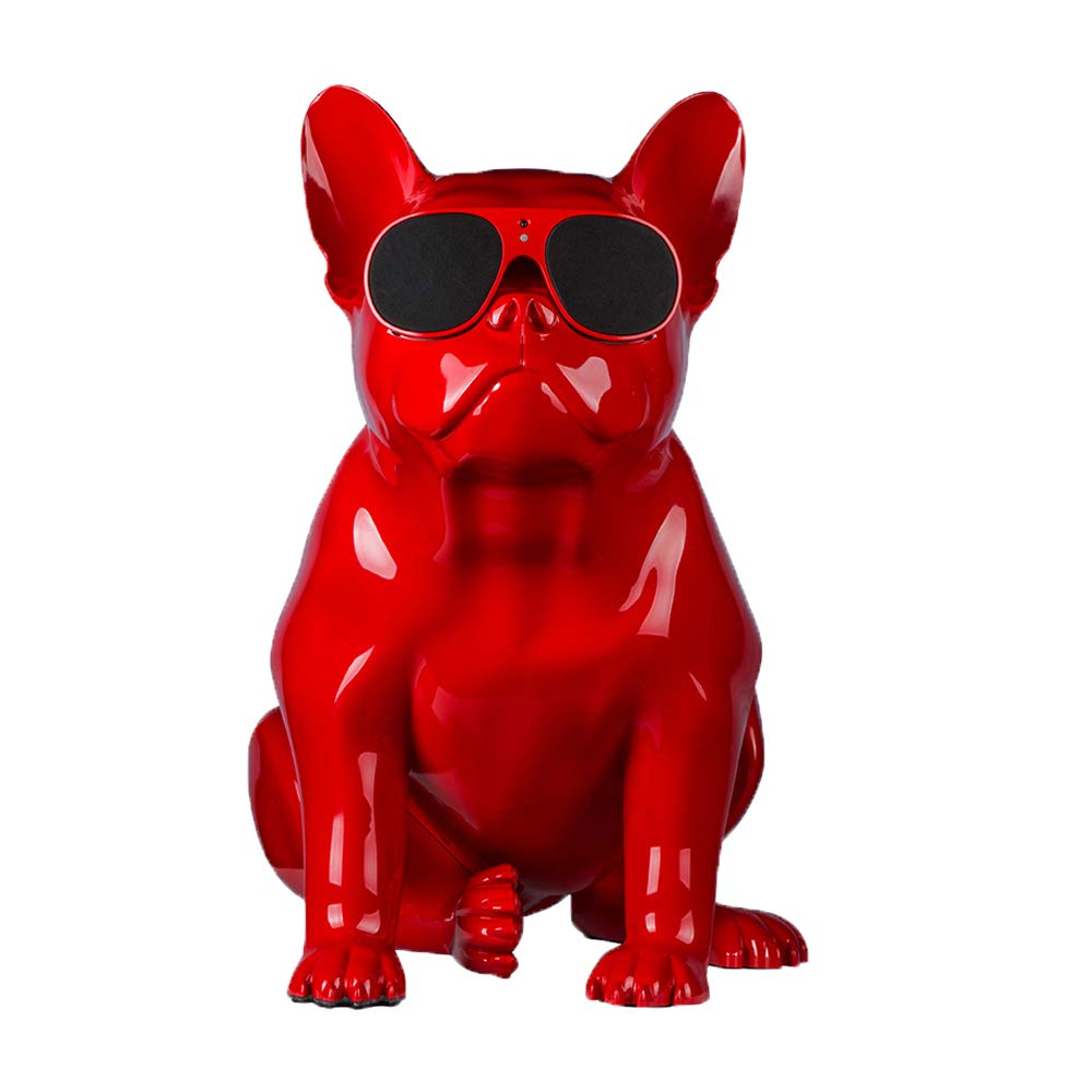 KIKBLW Law Dog サウンド 犬 ヘッド Bluetooth サウンド ブルートゥース ブルファイター スピーカー 犬 頭 蹄頭 サウンド, レッド, 886-514-483 B07PYTXZC5 レッド