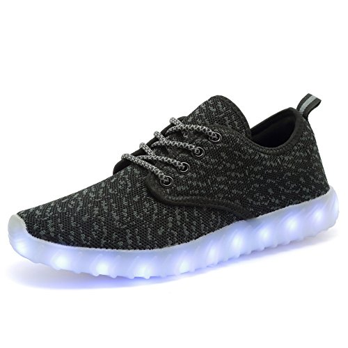 EQUICK Kids Led Light Up Shoes Fashion Breathable Knitting Children Casual Running Sneakers (Little Kid/Big Kid)