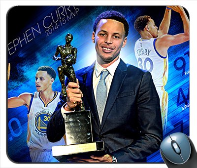 Stephen-Curry MVP Golden State Warriros Mouse Pad]()