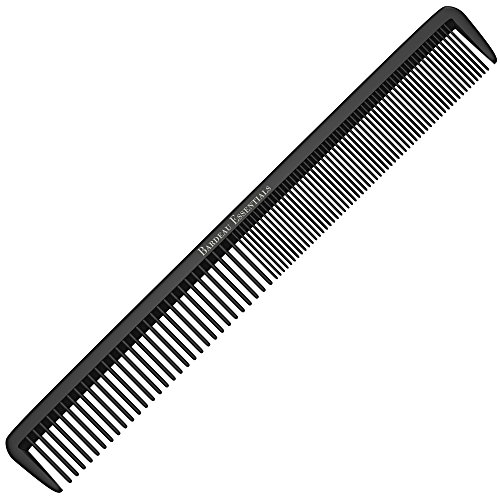 "Styling Comb - Professional 8.75"" Black Carbon Fiber Anti Static Chemical And Heat Resistant Hair Combs For All Hair Types For Men and Women - By Bardeau ()"