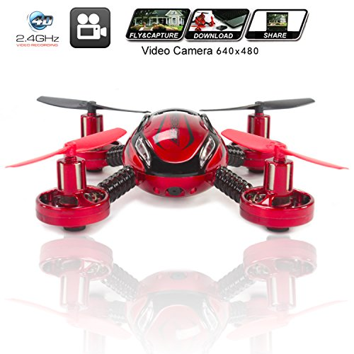 KiiToys Drone with Camera Quadcopter JXD 392 - Mini Drones - Built in Camera, Easy Flight Control, Stable Landing,...