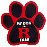 All Star Dogs NCAA Rutgers Scarlet Knights Paw Print Car Magnet