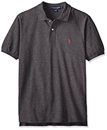 U.S. Polo Assn. mens Classic Polo Shirt (Color Group 1 of 2), Heather Dark Gray, Large