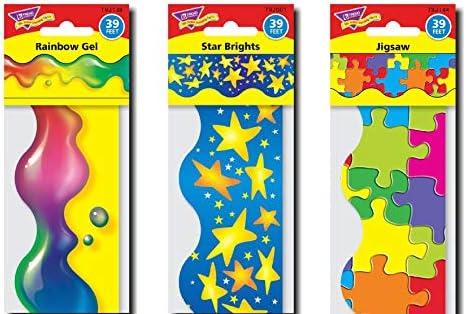 Blast Of Colour Trio Variety Pack – Recorte de pantalla para aula, 35 metros, ideal para tableros de anuncios: Amazon.es: Oficina y papelería