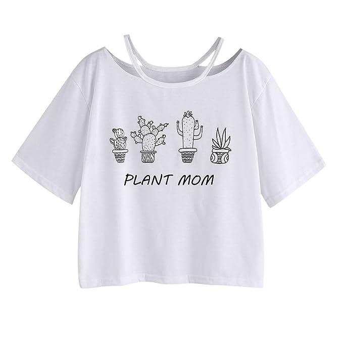 Camisetas Manga Corta Mujer Camiseta Cortas Chica Basica ...