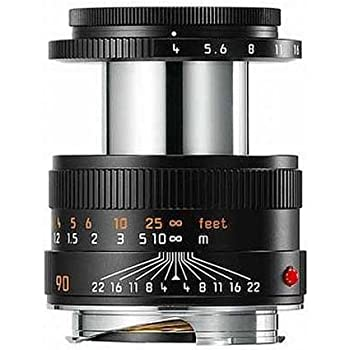 Leica Macro-Elmar-M 90mm f/4 Manual Focus Lens, 2.6' Minimum Focus Distance, USA Warranty