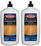 Weiman Wood Floor Cleaner (2Pack) 32 Ounce - For Hardwood Finished Oak Maple Cherry Birch Engineered and More - Professional Safe Steak-less