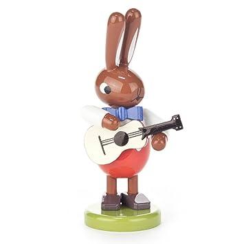Conejo con guitarra eléctrica de tamaño pequeño - Ulbricht erzegebirge: Amazon.es: Hogar