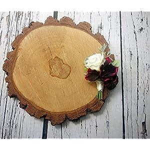 Elegant Best Quality Wedding Boutonniere Silk Flowers Burgundy Greenery Maroon 40