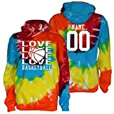JANT Girl Custom Basketball Tie Dye Sweatshirt - Love Basketball Logo