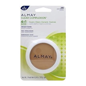 Amazon.com : Almay Clear Complexion 4 in 1 Blemish Eraser, Pressed Powder Light/Medium [200] 0.28 oz : Beauty