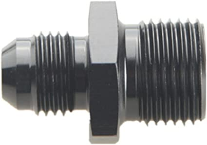 BLACK 6 AN Male Flare To 10mm x 1.0 Metric Fitting Made in U.S.A.