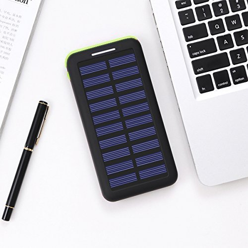 Power Bank Portable Solar Charger - 22000mAh with Dual Input & 3 USB Output Solar Charger, High-speed Charging Technology Battery Pack for iPhone, Samsung Galaxy and more (green) by Aikove (Image #7)