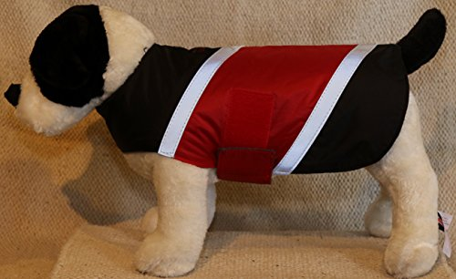 Ultra Paws Dog Coat – Medium in Black with Red For Sale