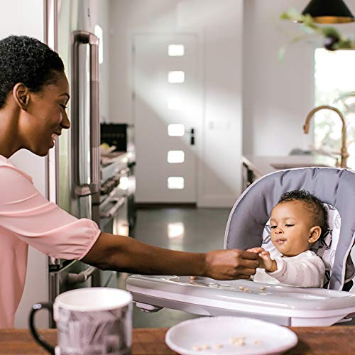 Ingenuity SmartServe 4-in-1 High Chair with Swing Out Tray – Clayton – High Chair, Toddler Chair, and Booster by Ingenuity (Image #2)