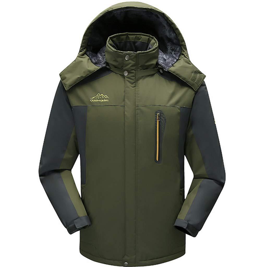 Herren Fleece Gefüttert Jacken-Winter-Warmwasserdichte Ski-Jacken-Mantel-Winddichtes Outdoor-Softshell Jacke Wandern Leichte Overcoat