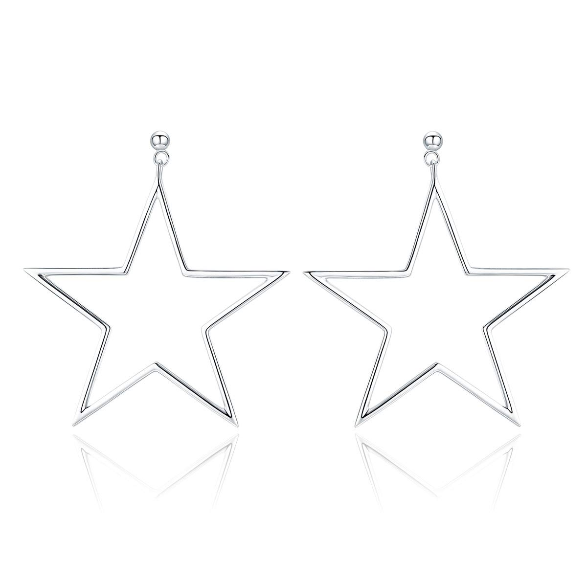 The Kiss Punk Rock Star Stud 925 Sterling Silver Earrings