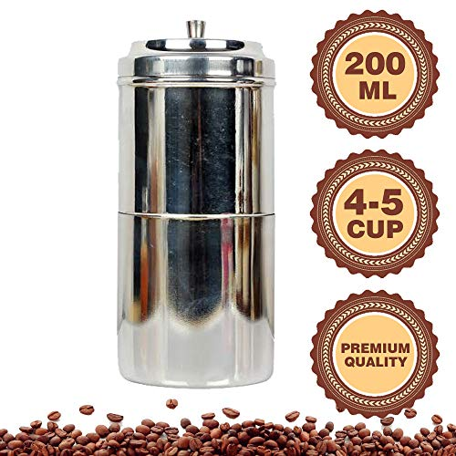 Public Choice Stainless Steel South Indian Coffee Filter Maker for Kitchen (200 ML)