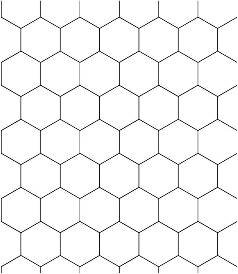 MULLSAN White Honeycomb Vinyl Film Self-Adhesive PVC Wall Paper 24x118 Roll