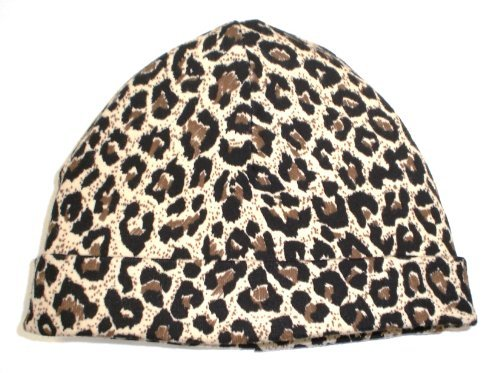 BabywearUK Leopard print half moon baby hat - British Made