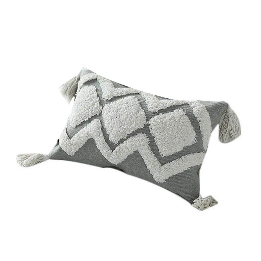 Ankidz Tassel Rectangle Pillow Case Cafe Home Decor Sofa Car Cushion Covers Pillowcases
