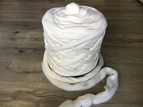 11 lbs/ 5 kgs Chunky arm knitting yarn Merino wool Super bulky soft giant knit large for arm knitted blanket 21.5 microns huge yarn Queen King size blanket - Christmas present idea from Wonddecor