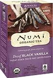 Numi Organic Tea Decaf Black Vanilla, Full Leaf Decaf Black Tea, 16 Count Tea Bags (Pack of 3)