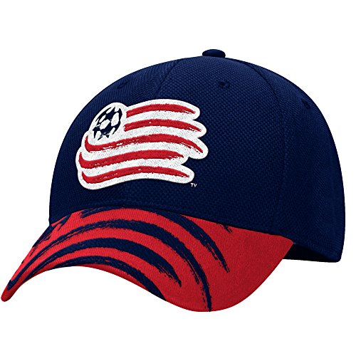 fan products of adidas MLS M712Z New England Revolution Men's Structured Flex Jersey Hook Hat, Large/X-Large, Navy/Yellow