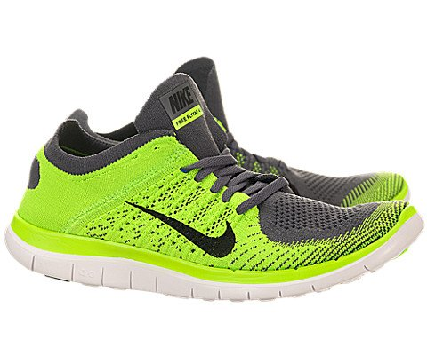finest selection d8d8c ee3b4 Nike Men s Free 4.0 Flyknit Dark Grey Black Electrc Green Running Shoe 8.5  Men US - Buy Online in UAE.   Apparel Products in the UAE - See Prices, ...