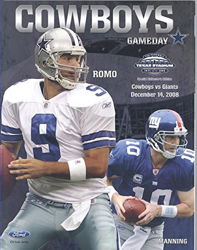 Cowboys gameday magazine December 14, 2008 (Romo/Manning on Cover - The Farewell to Texas Stadium Collectors - Stadium 2008 Club
