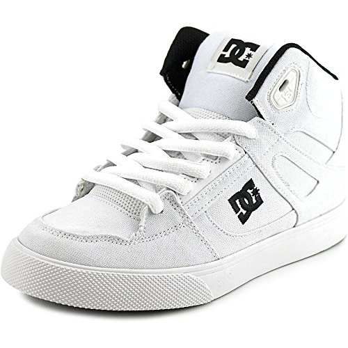 DC Shoes Spartan High Tx Youth US 3 White Skate Shoe - Dc Shoes High For Kids