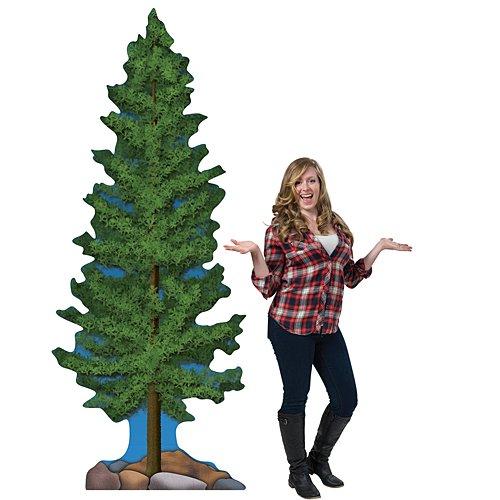 (9 ft. 5 in. Rustic Garden Pine Tree Standee )