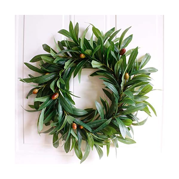 Dseap-Artificial-Nearly-Real-Olive-Leaf-Wreath