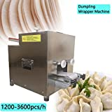 Zinnor Commercial Stainless Steel Dumpling Wrapper Machine,High Efficiency Dumpling Skin Machine with One Custom Mold,110V,1200-3600pcs/h
