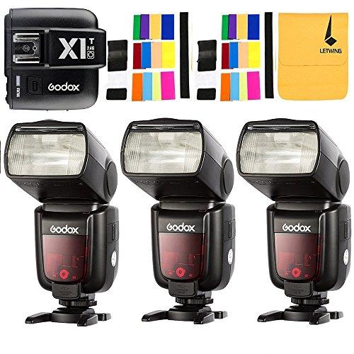 GODOX TT685O Thinklite TTL 3X Camera Flash High Speed 1/8000s GN60 for Olympus Panasonic Cameras E-TTL II Autoflash,GODOX X1T-O TTL 1/8000s HSS 32 Channels 2.4G Flash Trigger Transmitter for Olympus