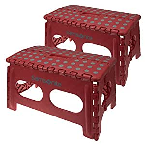 Amazon Com 2 Samsonite Wide Red Folding Step Stool Non
